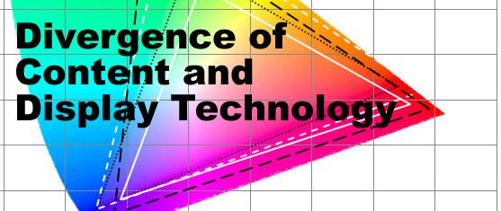 Divergence of Content and Display Technology