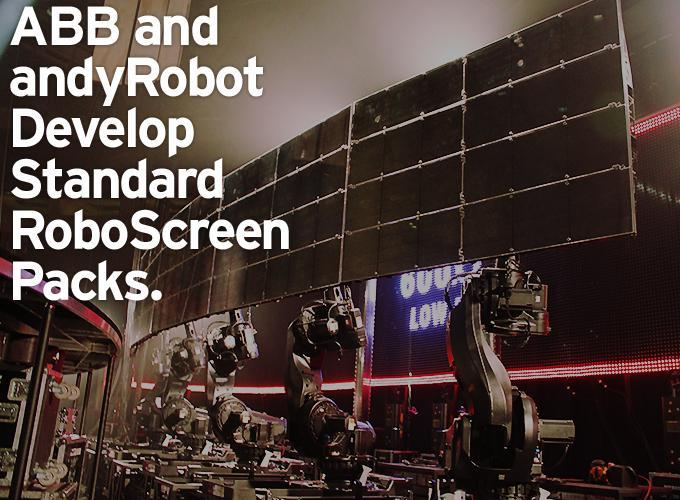 ABB and andyRobot Develop Standard RoboScreen Packs