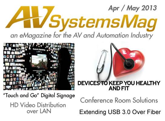 AVSystemsMag eMagazine <br>Apr / May 2013