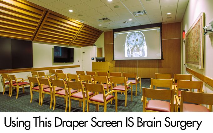 Using This Draper Screen IS Brain Surgery