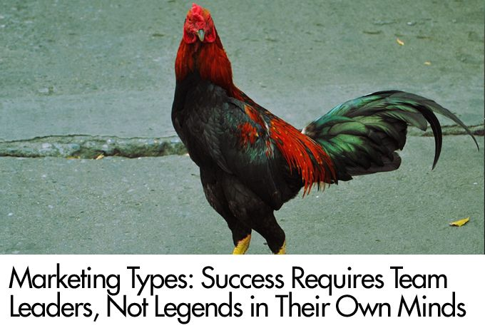 Marketing Types: Success Requires Team Leaders, Not Legends in Their Own Minds