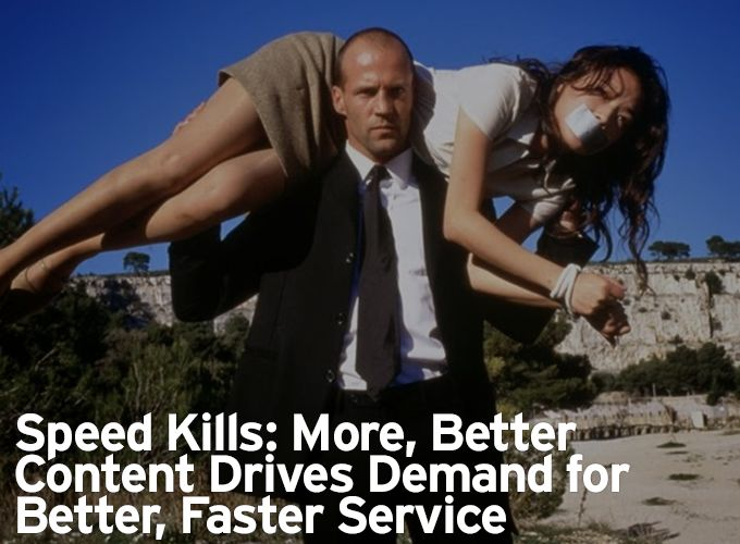 Speed Kills: More, Better Content Drives Demand for Better, Faster Service