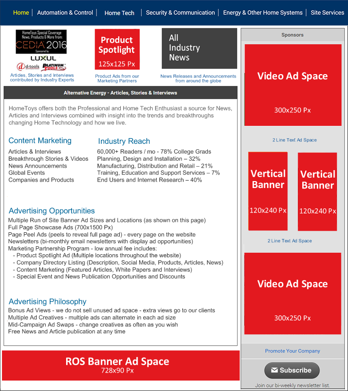 Media Kit Home Page