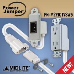 MIDLITE® - Power Jumper IC™ HDTV & Sound Bar Power Relocation Kit with Interconnect